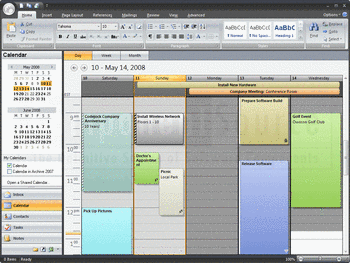 A calendar application built using Codejock Xtreme Suite Pro.