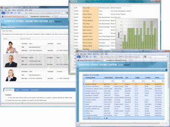 Card View and Filtering Performance demos in Syncfusion Essential Grid.