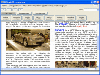 Adding annotations to a PDF document.